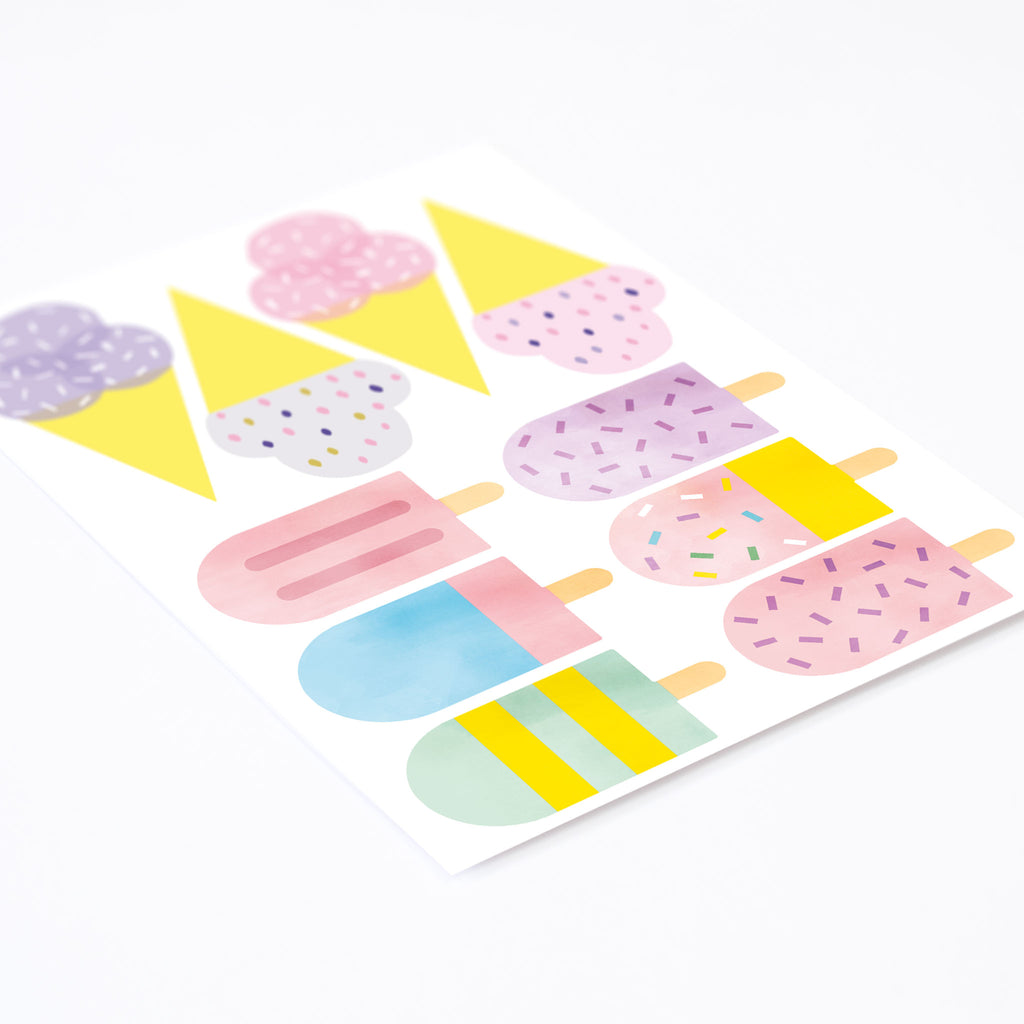 Ice Cream Stand Stickers for Ikea Duktig Play Kitchen, wall decals by Made of Sundays