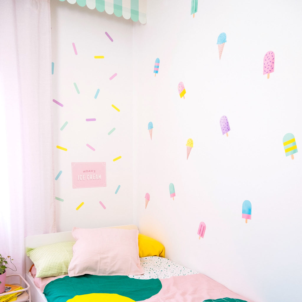 Ice Cream Wall Stickers Theme Pack, wall decals by Made of Sundays