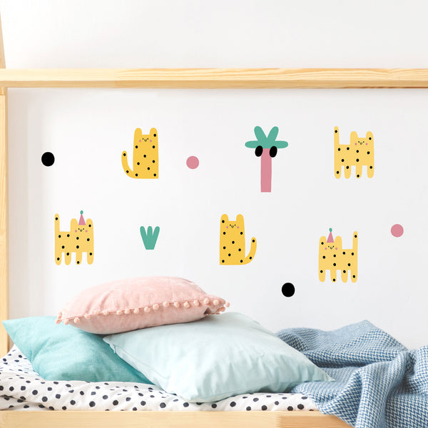 Leoparty Leopards, wall decals by Made of Sundays