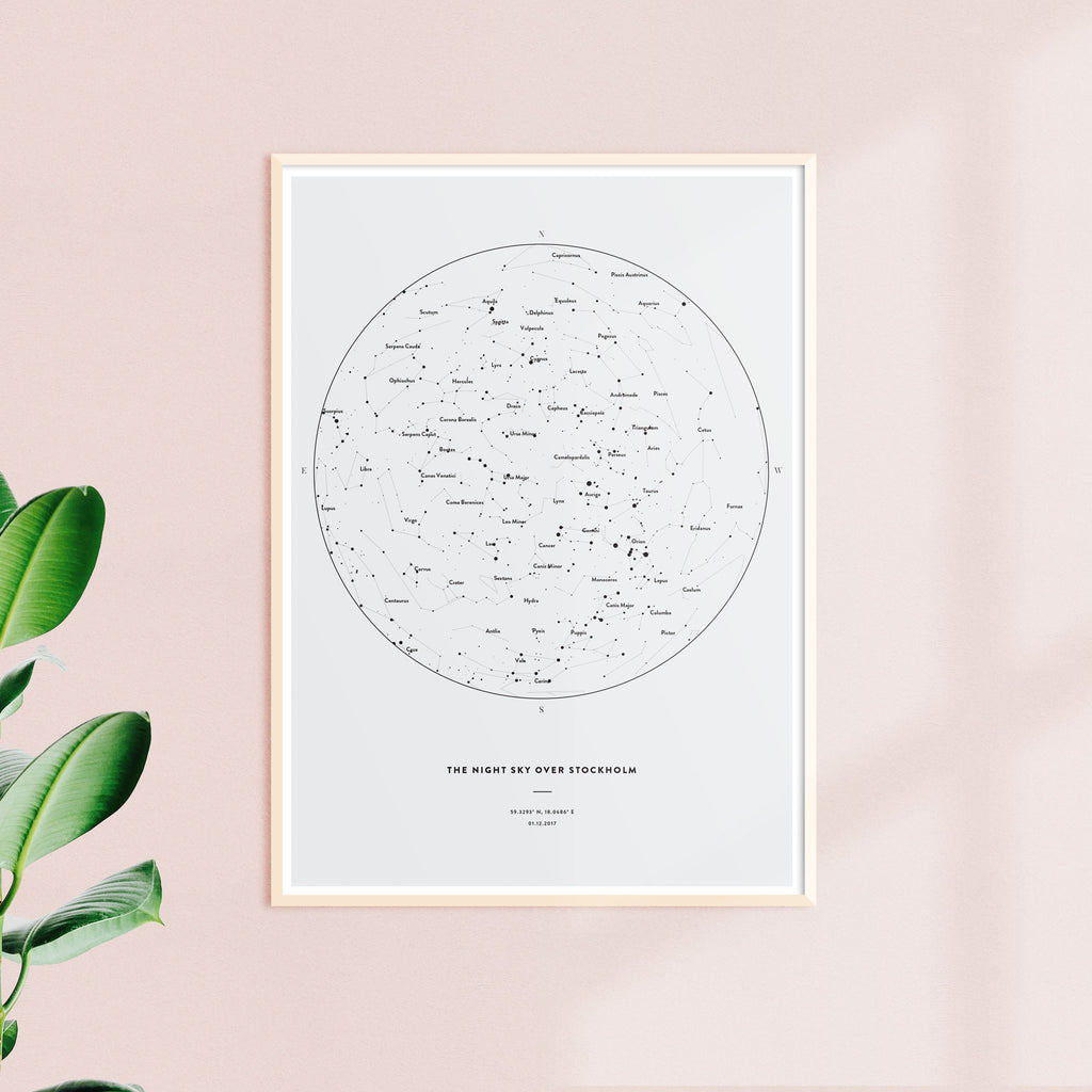 Night Sky Star Map, Solid, wall decals by Made of Sundays