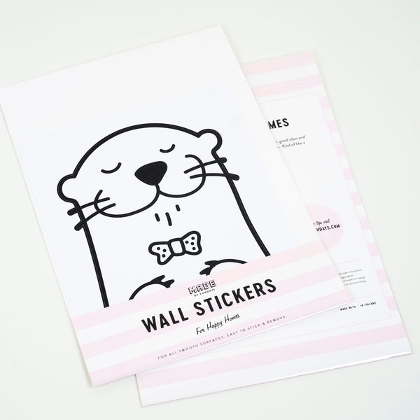 Oscar the Otter, Small, Wallpaper Sticker - Made of Sundays
