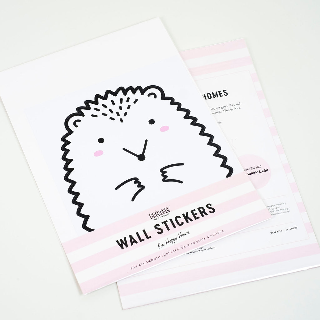 Paco the Hedgehog, Small Wall Sticker, wall decals by Made of Sundays