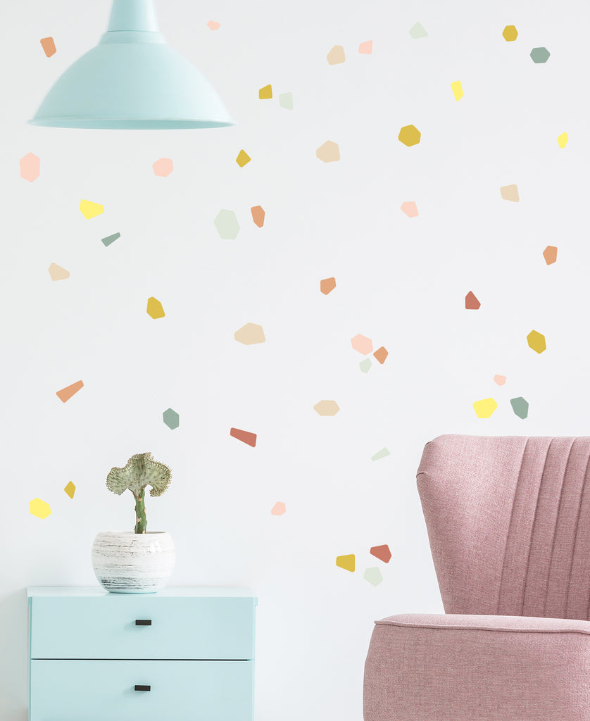 Terrazzo Wall Stickers, wall decals by Made of Sundays