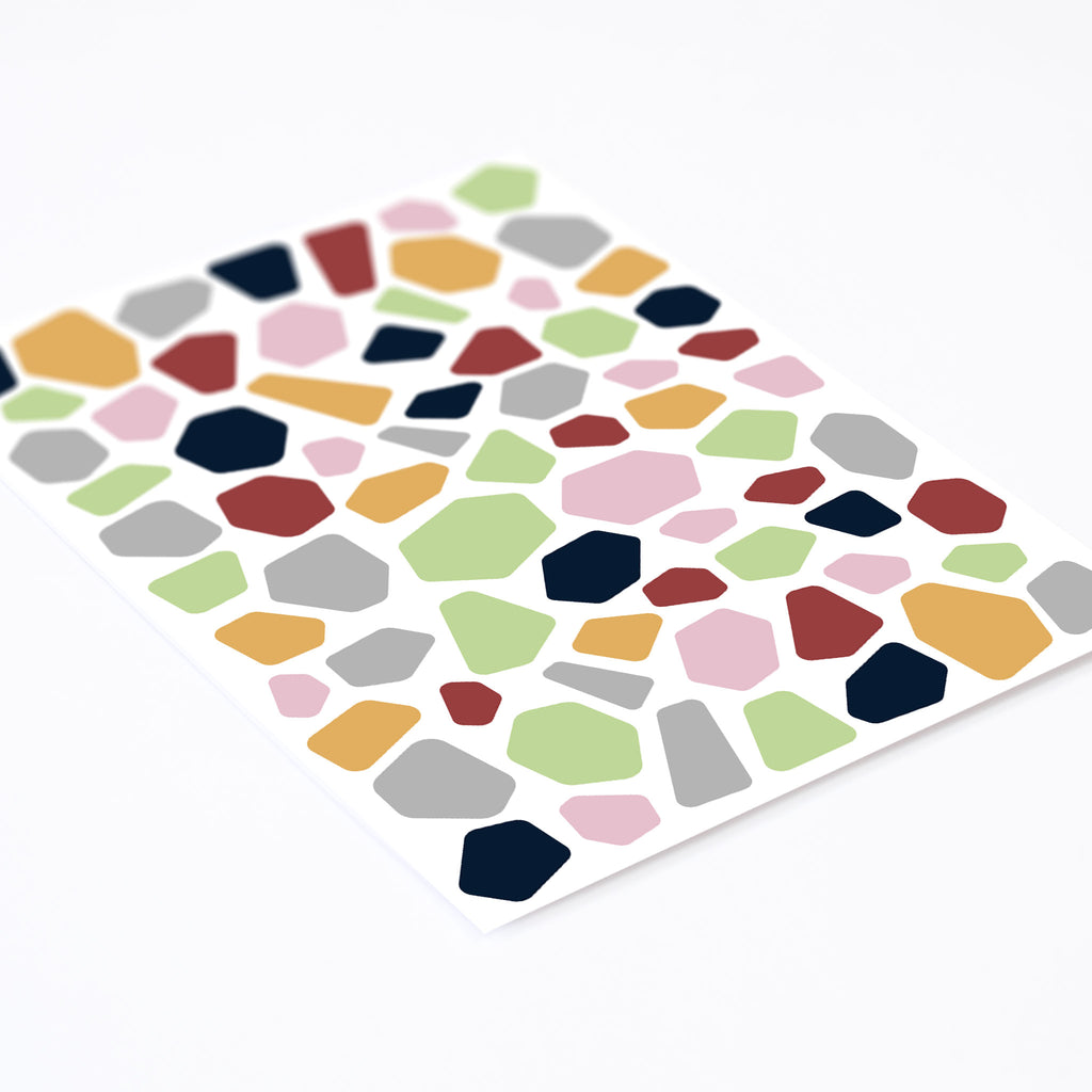 Terrazzo wall pattern, wall decals by Made of Sundays