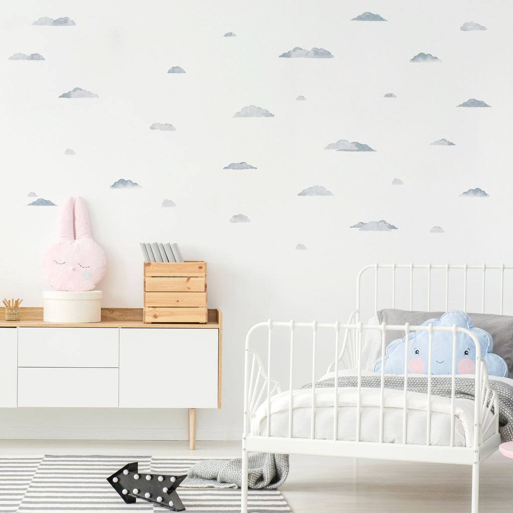 Watercolour Clouds Wall Stickers, wall decals by Made of Sundays