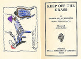 Keep Off the Grass George A England Signed by Author 1919 Edition