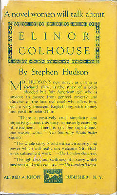 First Edition Elinor Colhouse by Stephen Hudson 1922