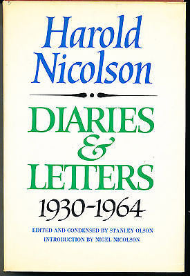Diaries & Letters 1930-1964 by Harold Nicolson 1980 1st Edition in Dust Wrapper