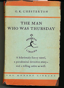 The Man Who Was Thursday early Modern Library Edition by GK Chesterton