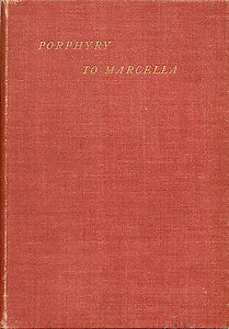 Porphyry The Philosopher to His Wife Marcella 1896 Edition