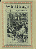 Whittlings by OJ Laylander 1928 First Edition