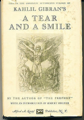 A Tear & A Smile by Kahlil Gibran 1950 First edition in Dust Jacket