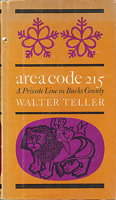 Area Code 215 A Private Line in Bucks County by Walter Teller  Signed First Ed
