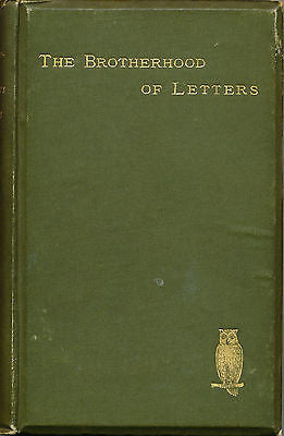 The Brotherhood of Letters by J. Rogers Rees 1889 First Edition
