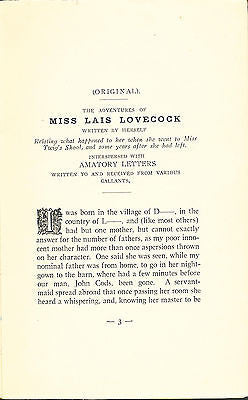 The Bagnio Miscellany by Miss Lais Lovecock  1892 Edition