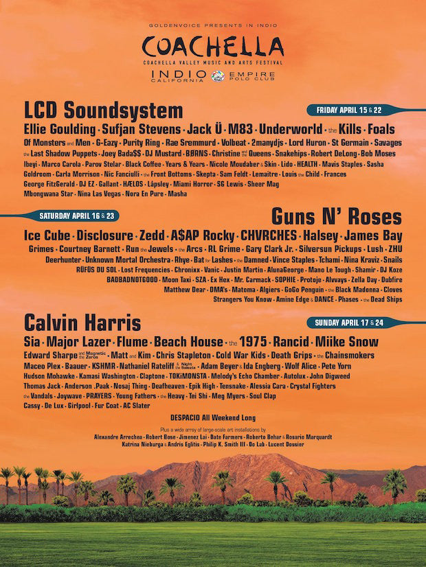 Coachella 2016 Lineup Announced Featuring Guns N Rose, LCD Soundsystem