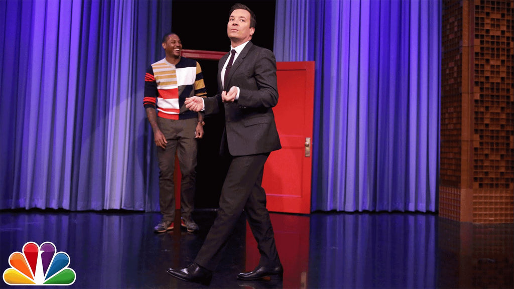 "Carmelo Anthony and Jimmy Fallon take on the ""Running Man Challenge"""