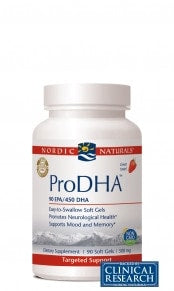 Nordic Naturals ProDHA (Strawberry), 120 - ChosenMeds.com: Your premier online shop for the best health supplements and skin care products