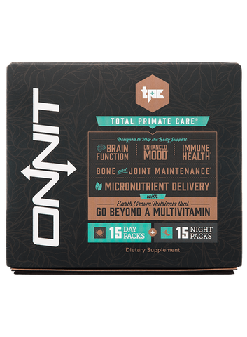 Onnit Total Primate Care (15 Day Supply) Day and Night Vitamin 30 Packs - ChosenMeds.com: Your premier online shop for the best health supplements and skin care products
