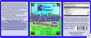 Blue Ice Royal Butter Oil / Fermented Cod Liver Oil Blend - ChosenMeds.com