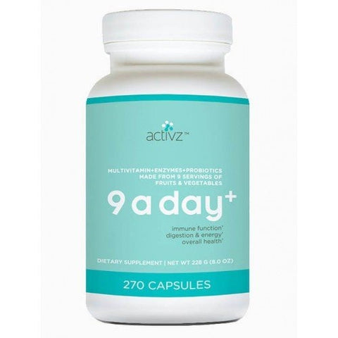 9 A Day Plus Whole Food Multi-Vitamins 8.0oz 270 Capsules - ChosenMeds.com