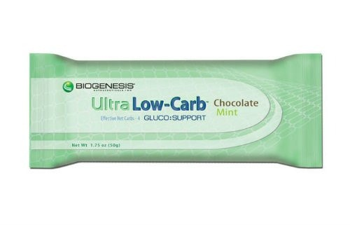 Biogenesis Ultra Low-Carb Bars, Chocolate Mint - ChosenMeds.com