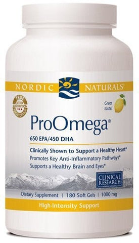 Nordic Naturals ProOmega Lemon Flavor, 1000mg, 180 - ChosenMeds.com: Your premier online shop for the best health supplements and skin care products