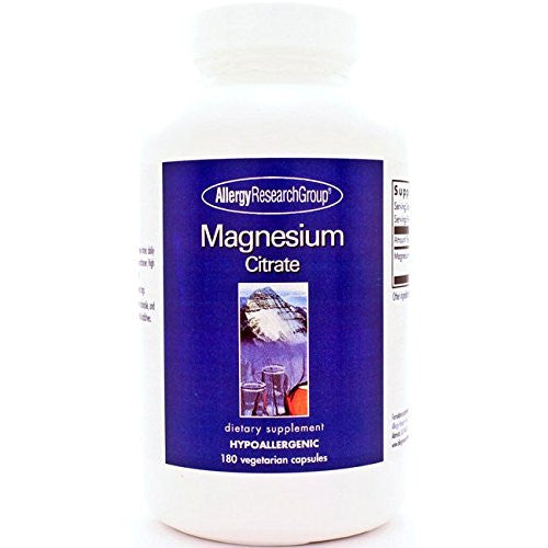 Allergy Research Group Magnesium Citrate 170 mg 180 Caps - ChosenMeds.com: Your premier online shop for the best health supplements and skin care products