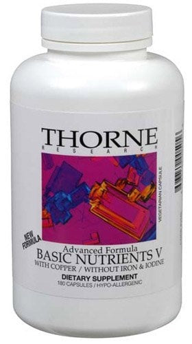 Thorne Research Basic Nutrients V, 180 - ChosenMeds.com: Your premier online shop for the best health supplements and skin care products