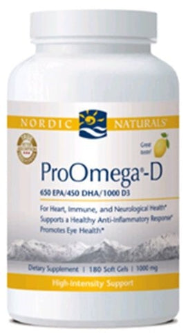 Nordic Naturals ProOmega-D, 180 count - ChosenMeds.com: Your premier online shop for the best health supplements and skin care products