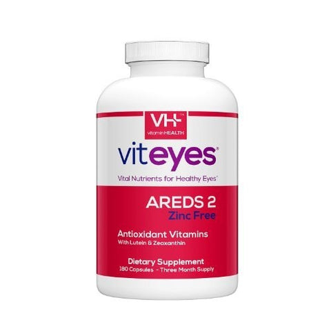 Viteyes Areds 2 Zinc Free Formula, 180C - ChosenMeds.com: Your premier online shop for the best health supplements and skin care products