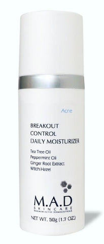 M.A.D Skincare Breakout Control Daily Moisturizer - For Acne Prone Skin 1.7 oz - ChosenMeds.com: Your premier online shop for the best health supplements and skin care products