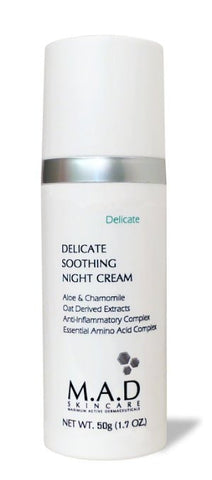 M.A.D Skincare Delicate Soothing Night Cream - For Sensitive Skin 1.7 oz. - ChosenMeds.com: Your premier online shop for the best health supplements and skin care products