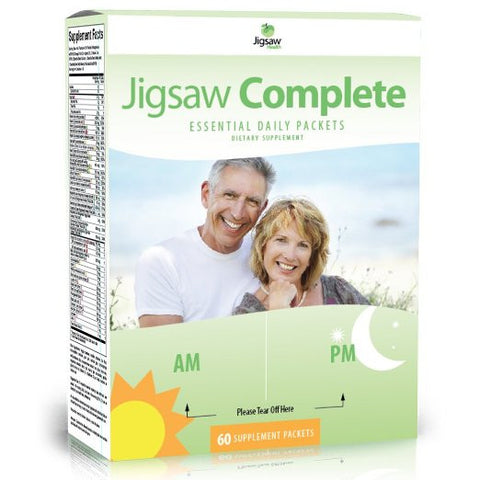 Jigsaw Health Complete Essential Multivitamin Supplement Daily Packets, 60 Count - ChosenMeds.com: Your premier online shop for the best health supplements and skin care products