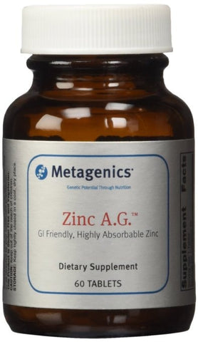 Metagenics Zinc A.G., 60 Tablets - ChosenMeds.com: Your premier online shop for the best health supplements and skin care products