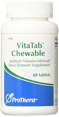 Prothera Vitatab Chewable Multiple Vitamin Mineral Combinations, 60 Count
