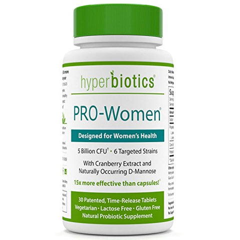 Hyperbiotics Pro-Women Probiotics 30 ct—Cranberry Extract, D-Mannose—15x More Survivability Than Capsules