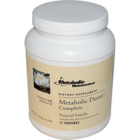 Metabolic Maintenance - Metabolic Detox Complete Vanilla - ChosenMeds.com: Your premier online shop for the best health supplements and skin care products