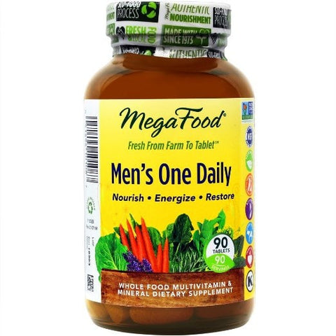 MegaFood Men's One Daily Tablets, 90 Count - ChosenMeds.com: Your premier online shop for the best health supplements and skin care products