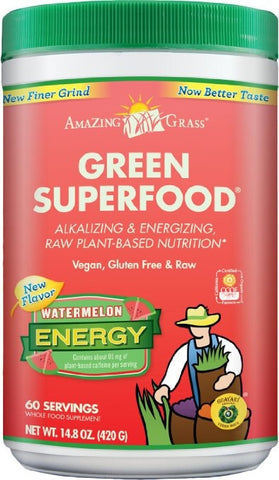 Amazing Grass Green Superfood Energy Watermelon, 60 Servings - ChosenMeds.com