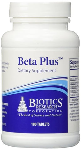 Biotics Research Beta Plus 180tabs - ChosenMeds.com