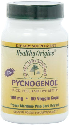 Healthy Orgins Pycnogenol Vegeterian Capsules, 100 mg, 60 Count - ChosenMeds.com: Your premier online shop for the best health supplements and skin care products