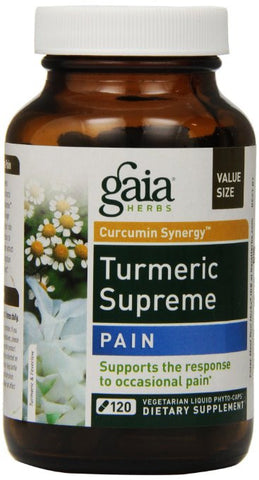 Gaia Herbs Turmeric Supreme Pain, 120 Count - ChosenMeds.com: Your premier online shop for the best health supplements and skin care products