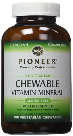 Pioneer Chewable Vitamin Mineral Tablets, 180-Count Bottle - ChosenMeds.com: Your premier online shop for the best health supplements and skin care products