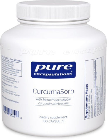 Pure Encapsulations - CurcumaSorb - with Meriva Bioavailable Curcumin Phytosome - 180 Capsules - ChosenMeds.com: Your premier online shop for the best health supplements and skin care products
