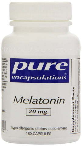 Pure Encapsulations Melatonin 20 mg. 180's - ChosenMeds.com: Your premier online shop for the best health supplements and skin care products