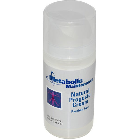 Metabolic Maintenance Natural Progeste Cream, 3.5 oz - ChosenMeds.com: Your premier online shop for the best health supplements and skin care products
