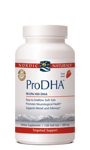 Nordic Naturals Prodha Strawberry 205 Epa/ 480 DHA 500mg 120 Softgels - ChosenMeds.com: Your premier online shop for the best health supplements and skin care products