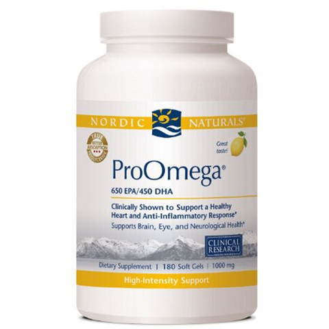 Nordic Naturals ProOmega Lemon Flavor, 1000mg, 120 - ChosenMeds.com: Your premier online shop for the best health supplements and skin care products