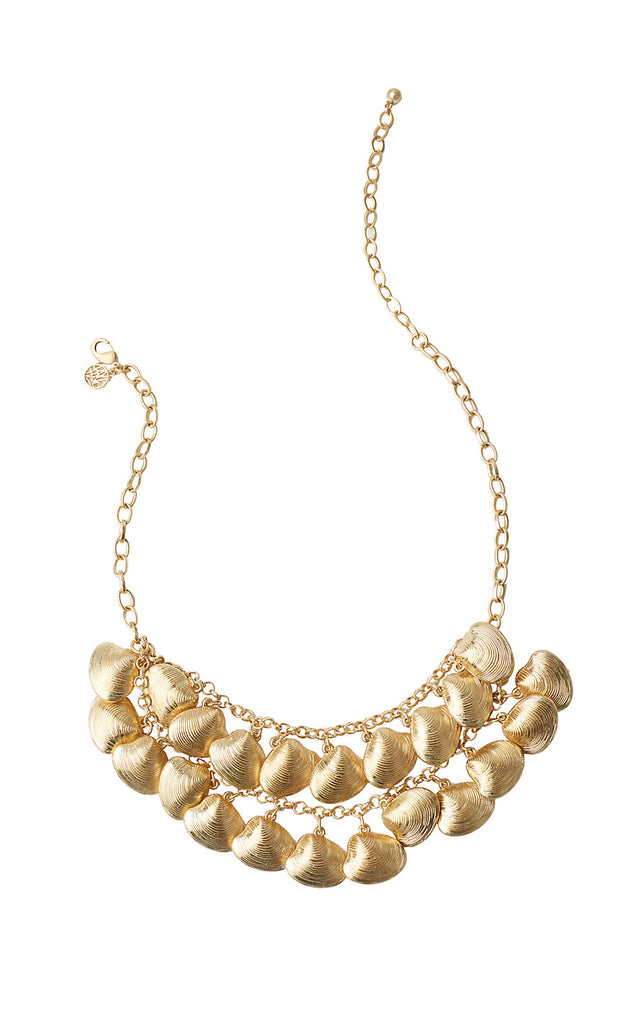 Shellabrate Necklace - Gold Metallic